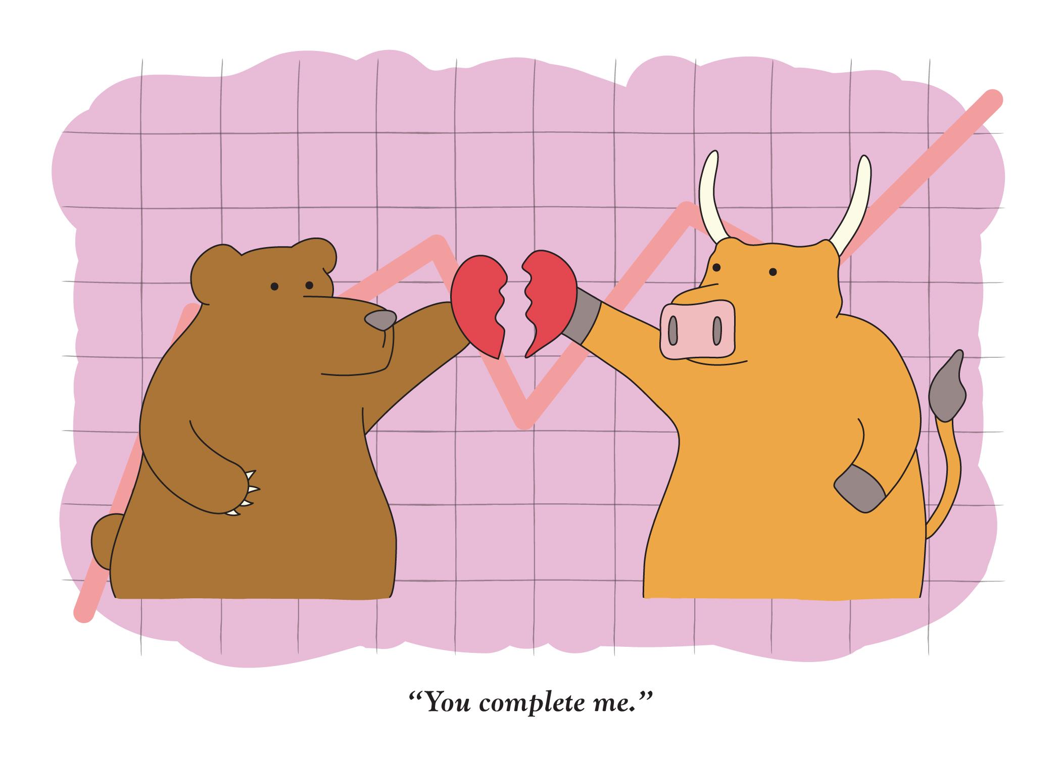 Valentine Bull And Bearvabb