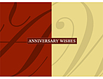 Red and White background with Anniversary Wishes text