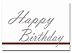 Happy Birthday card with red executive line