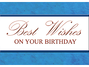 Birthday Card with blue lines and text