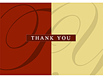 Red and Gold background with Thank You text