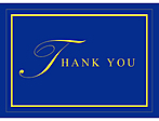 Thank you with blue background and yellow text/border